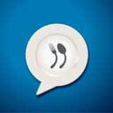 Vektor der Anführungszeichen-Sprache-Platten-Ikone Stockfotos