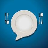 Vektor der Anführungszeichen-Sprache-Platten-Ikone Lizenzfreies Stockbild