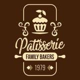 Vektor der Bäckerei-Konditorei-Familien-Bäcker-1979 Stockfotos