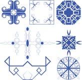 Vektor der dekorativen Linie Kunst Lizenzfreies Stockfoto