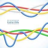 Vektor, der farbigen Kabelvektorhintergrund hängt Lizenzfreie Stockbilder
