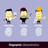 Vektor der Fingerabdruck-Mann-Eigenschafts-Reihe Stockbild