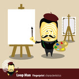 Vektor der Fingerabdruck-Mann-Eigenschafts-Reihe künstler Lizenzfreies Stockbild