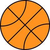 Vektor der flachen Basketballikone lokalisiert auf weißem Hintergrund Stock Abbildung