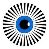 Vektor, der ganz Augenpyramidensymbol Schwarzweiss--Mandala Illustration sieht Dekoration, Asiat vektor abbildung