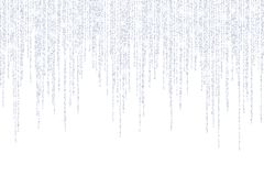 Vektor, der in Linien silberne Funkelnkonfettipunkte fällt stock abbildung