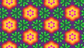 Vektor der lodernden Blumen Stockfoto