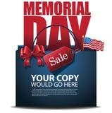 Vektor der Memorial Day -Verkaufseinkaufstascheanzeigen-Schablone ENV 10 Lizenzfreie Stockfotos