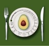 Vektor der Nahrungs-Tatsachen-Avocado Lizenzfreie Stockbilder