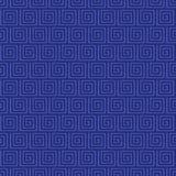 Vektor, der nahtloses Muster der griechischen Verzierung einwickelt Lizenzfreies Stockfoto