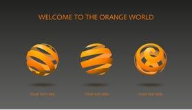 Vektor der orange Schale Stockfotografie