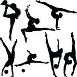 Vektor der rhythmischen Gymnastik Stockfotografie