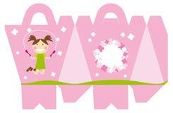 Vektor, der rosa Kastenmädchen verpackt vektor abbildung