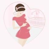 Vektor der schwangeren Frau Lizenzfreie Stockfotos