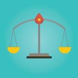 Vektor der Skalabalance Investitionseigentum Lizenzfreie Stockfotos