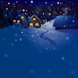 Vektor der Winterlandschaft. Frohe Weihnachten! stock abbildung