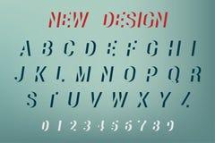 Vektor des Alphabet-neuen Designs Neuer Designguß und -alphabet Auch im corel abgehobenen Betrag Stockbilder