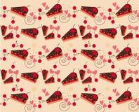 Vektor des Bäckerei-Musters mit Kirsche Lizenzfreie Stockfotografie