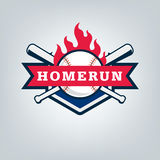 Vektor des Baseballsportteamlogos Lizenzfreies Stockfoto