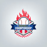 Vektor des Baseballsportteamlogos Stockbild