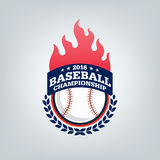 Vektor des Baseballsportteamlogos Stockbilder