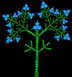 Vektor des blühenden Baums Lizenzfreies Stockbild