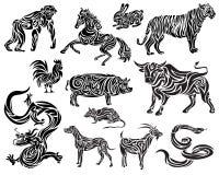 Vektor des chinesischen Tierkreises Stockfotos