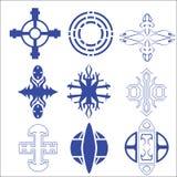 Vektor des dekorativen Kreuzes und des Logos Lizenzfreie Stockfotos