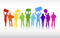Vektor des Geschäftskommunikationen Zusammenarbeits-Konzeptes Lizenzfreies Stockbild