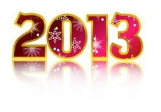 Vektor des glücklichen neuen Jahr-2013 Stockfoto