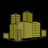 Vektor des grafischen städtischen Gebäudes Lizenzfreie Stockfotos