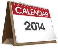 Vektor des Kalender-2014 Lizenzfreies Stockfoto