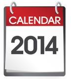 Vektor des Kalender-2014 Lizenzfreie Stockfotos