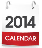 Vektor des Kalender-freien Raumes 2014 Lizenzfreies Stockfoto