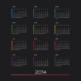 Vektor des Kalenders 2014 Stockfotografie