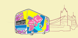Vektor des London-olympischen Busses 2012 Lizenzfreie Stockbilder