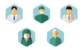 Vektor des medizinischen Personals Lizenzfreie Stockfotos