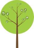 Vektor des mehrfarbigen Kreisbaums stock abbildung