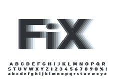 Vektor des modernen abstrakten Gusses und des Alphabetes lizenzfreie stockbilder