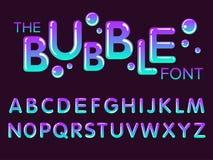 Vektor des modernen stilisierten Gusses und des Alphabetes vektor abbildung