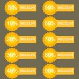 Vektor des Rabatt--20 -30 -40 usw Vektor Lizenzfreies Stockfoto