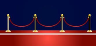 Vektor des roten Teppichs Stockfotos