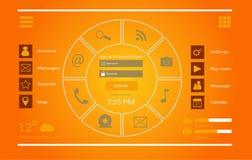 Vektor des Schnittstellendesigns UI Lizenzfreies Stockbild