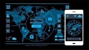 Vektor des Schnittstellendesigns UI Lizenzfreie Stockbilder