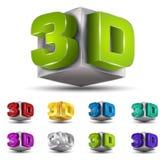 Vektor des Textes 3D Stock Abbildung