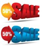 Vektor des Verkaufstextes 3d Stock Abbildung