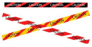 Vektor des warnenden Bands der Vorsicht Grenz Stockfotografie