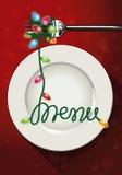 Vektor des Weihnachtsmenüdesigns Lizenzfreie Stockfotografie