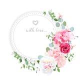 VEKTOR-Designkarte der empfindlichen Hochzeit Blumen vektor abbildung