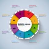 VEKTOR-Designschablone Infographic Kreis Lizenzfreie Stockbilder